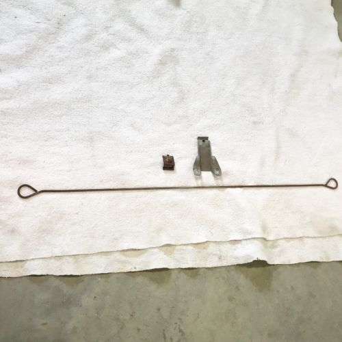 1956-Buick-hood-insulation-hold-support-brackets-rod-55-54-53-Olds-Pontiac-Cad-0