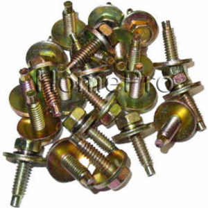 1971-1979-FORD-FENDER-BODY-BOLTS-14-20-25-pcs-YELLOW-ZINC-CHROMATE-9517-0