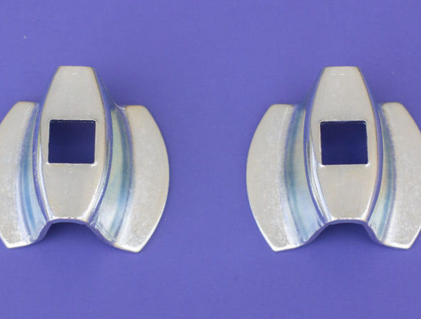 55-Chevy-Bumper-End-to-Body-Bell-Spacers-Pair-NEW-1955-Chevrolet-0