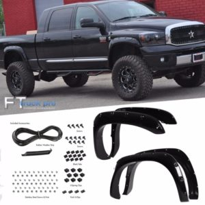 PAINTABLE-03-09-DODGE-RAM-2500-3500-Pocket-Riveted-Fender-Flares-Cover-Smooth-0