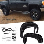 PAINTABLE-2007-2013-GMC-Sierra-1500-Pocket-Riveted-Fender-Flares-Cover-Smooth-0-0
