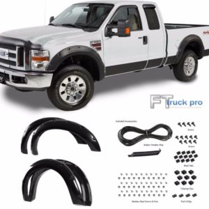 PAINTABLE2008-2010-Ford-F250-F350-HD-Pocket-Riveted-Fender-Flares-Cover-Smooth-0