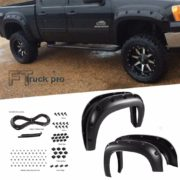 TEXTURED-07-13-GMC-Sierra-1500-787-976-Bed-Pocket-Riveted-Fender-Flares-0-0