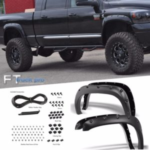 TEXTURED-2002-2008-DODGE-RAM-1500-Pocket-Riveted-Fender-Flares-Cover-Paintable-0