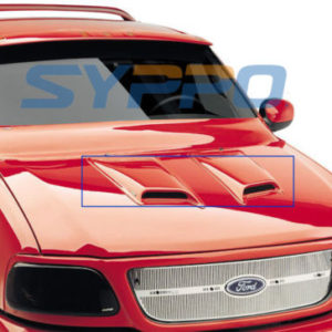 Universal-ABS-Paintable-Hood-Scoop-TOYOTA-SIENNA-SEQUOIA-HIGHLANDER-SUV-2Pcs-0